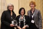 Photo: Marilyn Nagel (left) and Marilyn Carter (right) of Cisco Systems, Inc. with Nadine Vogel (center)