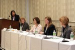 Photo: WorkLife Panel (left to right), Kathy Hannan, KPMG, LLP; Dr. Eileen Brennan, Portland State U.; Ellen Galinsky, Families and Work Institute; Andrea Foote, PepsiCo; Marilyn Carter, Cisco Systems, Inc.