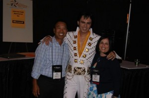 Photo: Nadine presenting at the 2010 NILG conference in Las Vegas, discussing OFCCP compliance for disability with Elvis and Dan Ellerman from Northrop Grumman Corp