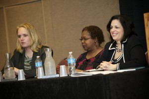 (L to R): Dana Foote, KPMG, LLP; Lois Cooper, Adecco Group, NA; Nadine Vogel, Springboard Consulting, LLC