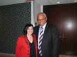 Photo: Lord Michael Hastings, KPMG International (right) and Nadine Vogel (left) - Lord Hastings opens the 2010 Disability Matters Welcome Reception
