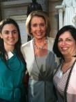 Photo: Alexandra Codina (left), Nancy Pelosi (center), Nadine Vogel (right)